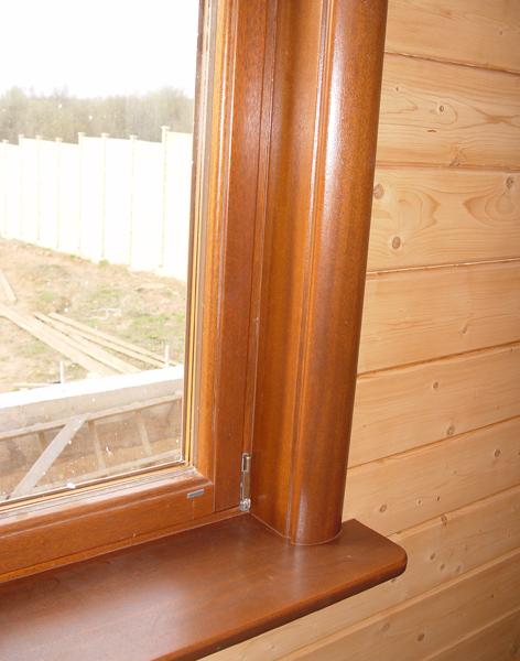 Как сделать откосы у деревянного окна